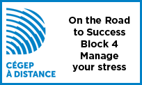 Launch the video On the Road to Success - Block 4 - Manage your stress